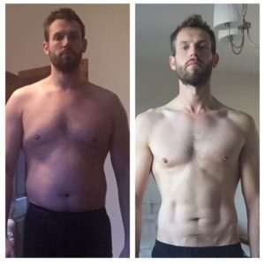 Martyn went from 210lbs to 173lbs while getting stronger!