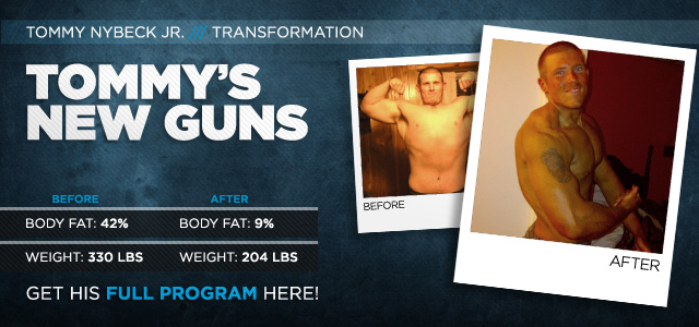 Tom Nybeck was Bodybuilding.com's Transformation of the Month
